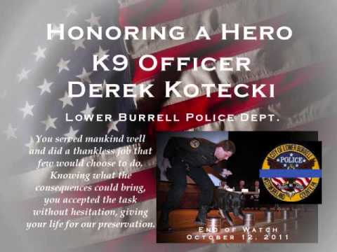Final Roll Call of Lower Burrell Officer Derek Kotecki