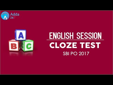 SBI PO Preparation I Cloze Test for SBI PO 2017 I Online Coaching for SBI IBPS Bank PO