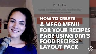 How to Create a Mega Menu for Your Recipes Page using Divi's Food Recipes Layout Pack