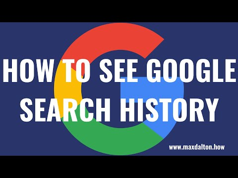 How to See Google Search History