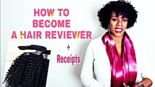HOW TO BECOME A HAIR REVIEWER AND GET FREE BUNDLES | 7 QUESTIONS AWAY | whoIsJasmineblack