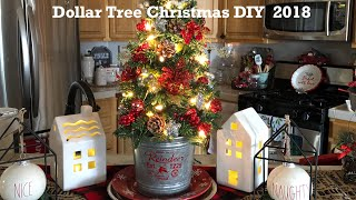 DollarTree  Christmas Tree Tutorial Tree with lights and completely decorated for under $20