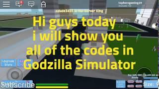 All codes in godzilla simulator! (ROBLOX)