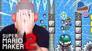 HARDEST LEVELS YET! NO WARM-UPS! [SUPER MARIO MAKER 2] [#60]