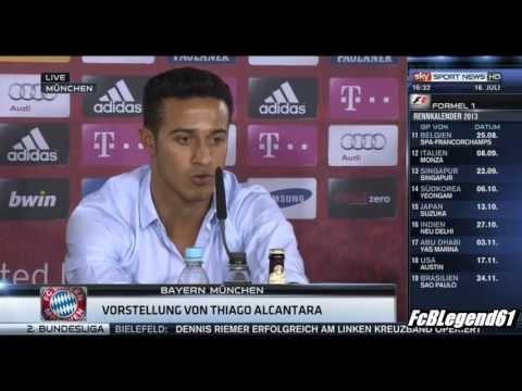 Thiago Alcantara 1. Pressekonferenz / Press Conference / HD / 16.07.2013