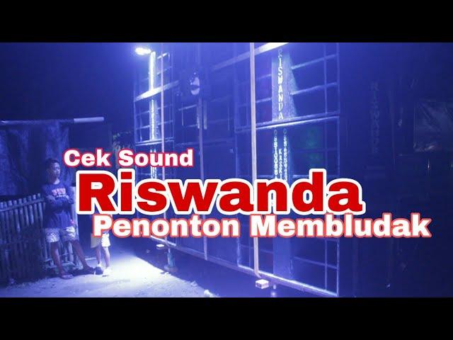Riswanda Cek Sound Penonton Membludak