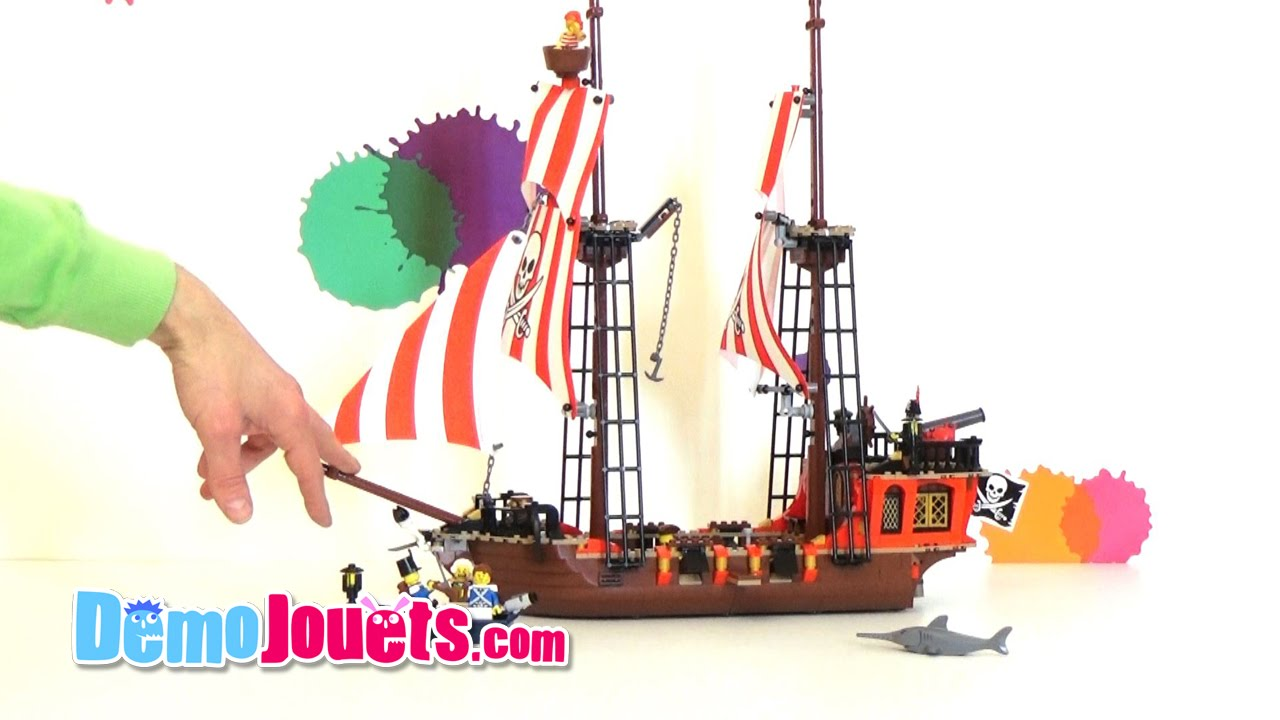 lego pirates le bateau pirate 70413 d mo jouets youtube. Black Bedroom Furniture Sets. Home Design Ideas