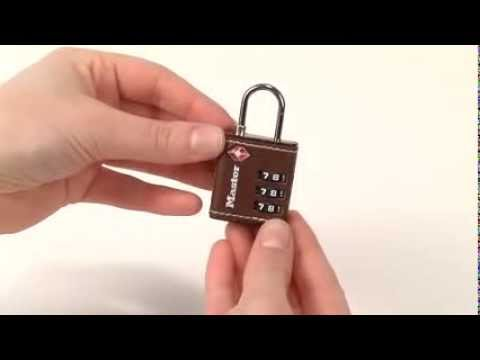 Operating The Master Lock 4692d Tsa Accepted Combination Luggage