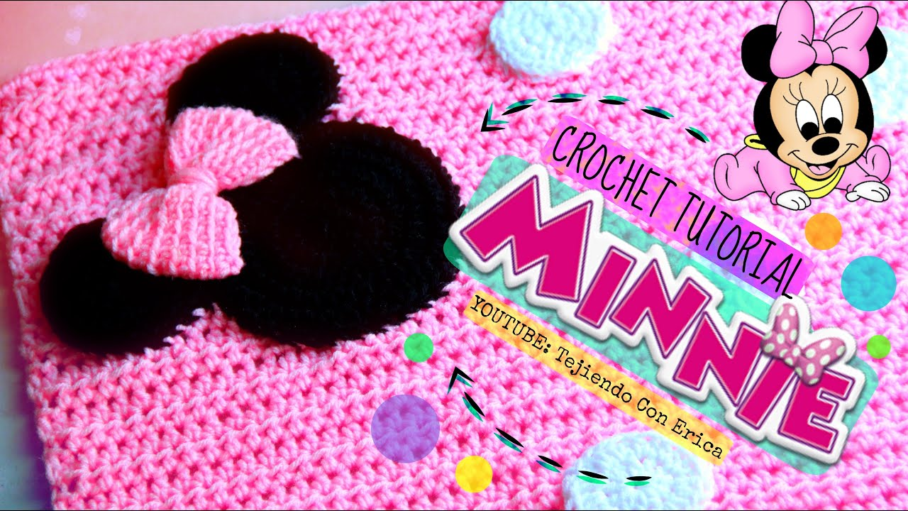 Minnie Mouse CROCHET COBIJA TUTORIAL | Tejiendo Con Erica - YouTube