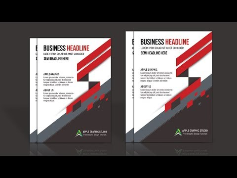 Company Profile Template Design - Photoshop Tutorial
