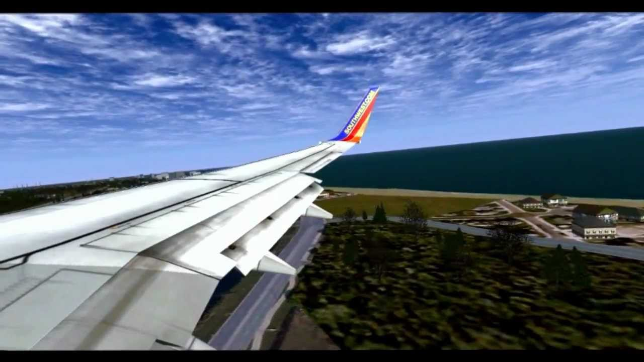 Southwest Airlines Landing In Myrtle Beach Fsx Hd You
