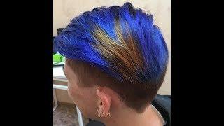 как покрасить волосы в ярко-синий цвет//синий цвет волос