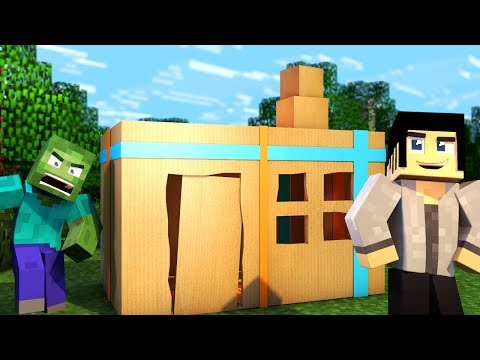 Minecraft BOX FORT CHALLENGE!!