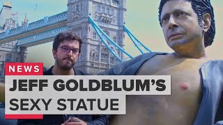 London's giant Jeff Goldblum statue is sexier in person
