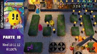 Ms. Pac-Man Maze Madness (PS1) (Español) (100%) - Parte 10: Nivel 10-11-12 al 100%
