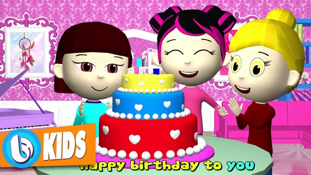 Happy Birthday Song For Kids - Bài Hát Thiếu Nhi Chúc Mừng Sinh Nhật 5 Thứ Tiếng (Video 4k)