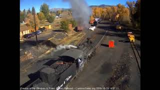 10/20/2018 Departure of double headed, 12 car train 216 from Chama, NM