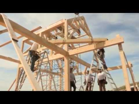 Timber Frame Assembly  - Discovery Dream Homes