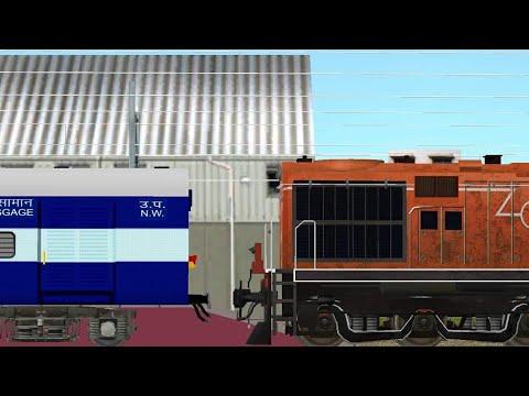 Amritsar new delhi shatabdi express entering Ludhiana junction in indian train simulator (ITS)