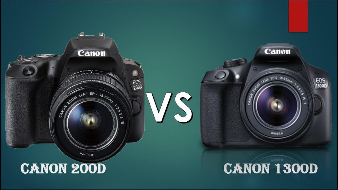 Canon 200D vs Canon 1300D | Canon Rebel SL2 vs Canon Rebel T6