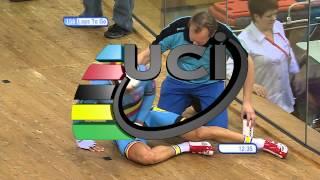 Mens Madison Belgium Crash - 2013 UCI World Track Championships
