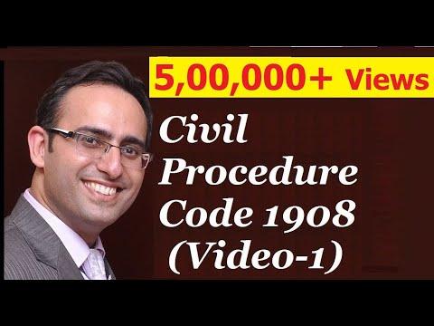 CPC 1908 [Video-1] - Introduction to Civil Procedure Code 1908