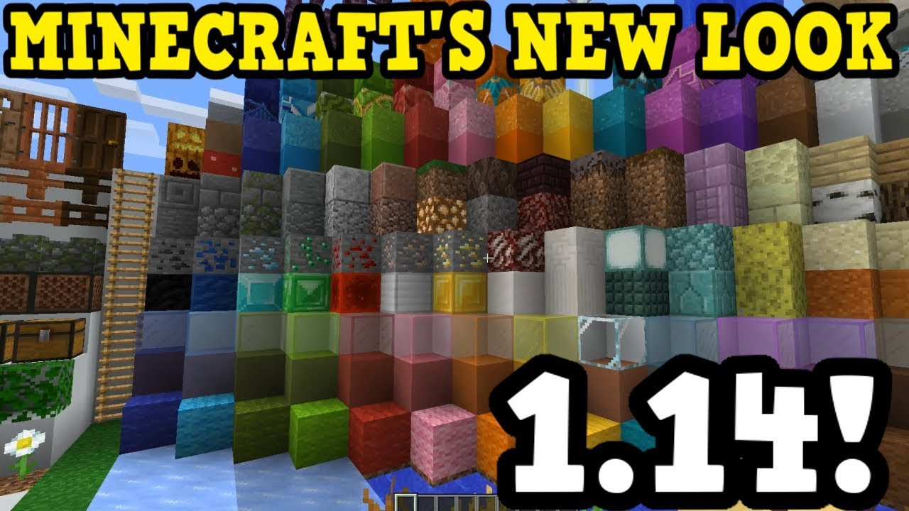 Minecraft 1 14 Preview All New Textures In One Place Youtube