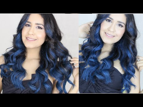 How To Diy Ombre Hair In Blue Purple Youtube