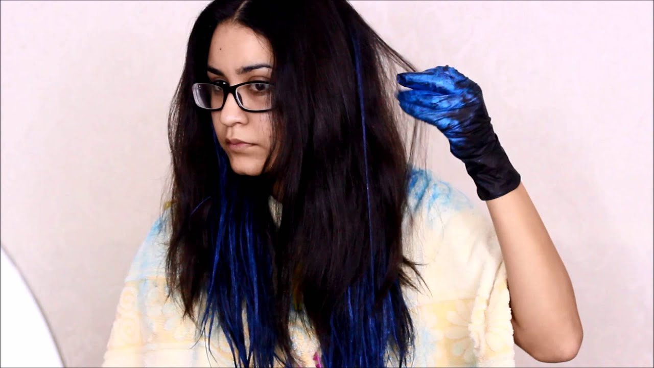 How To Blue Ombre Hair W Garnier Color Styler No Bleach
