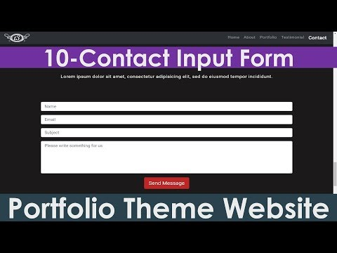 10/15: Contact Section & Input Forms | Create Portfolio Theme Responsive Bootstrap Website