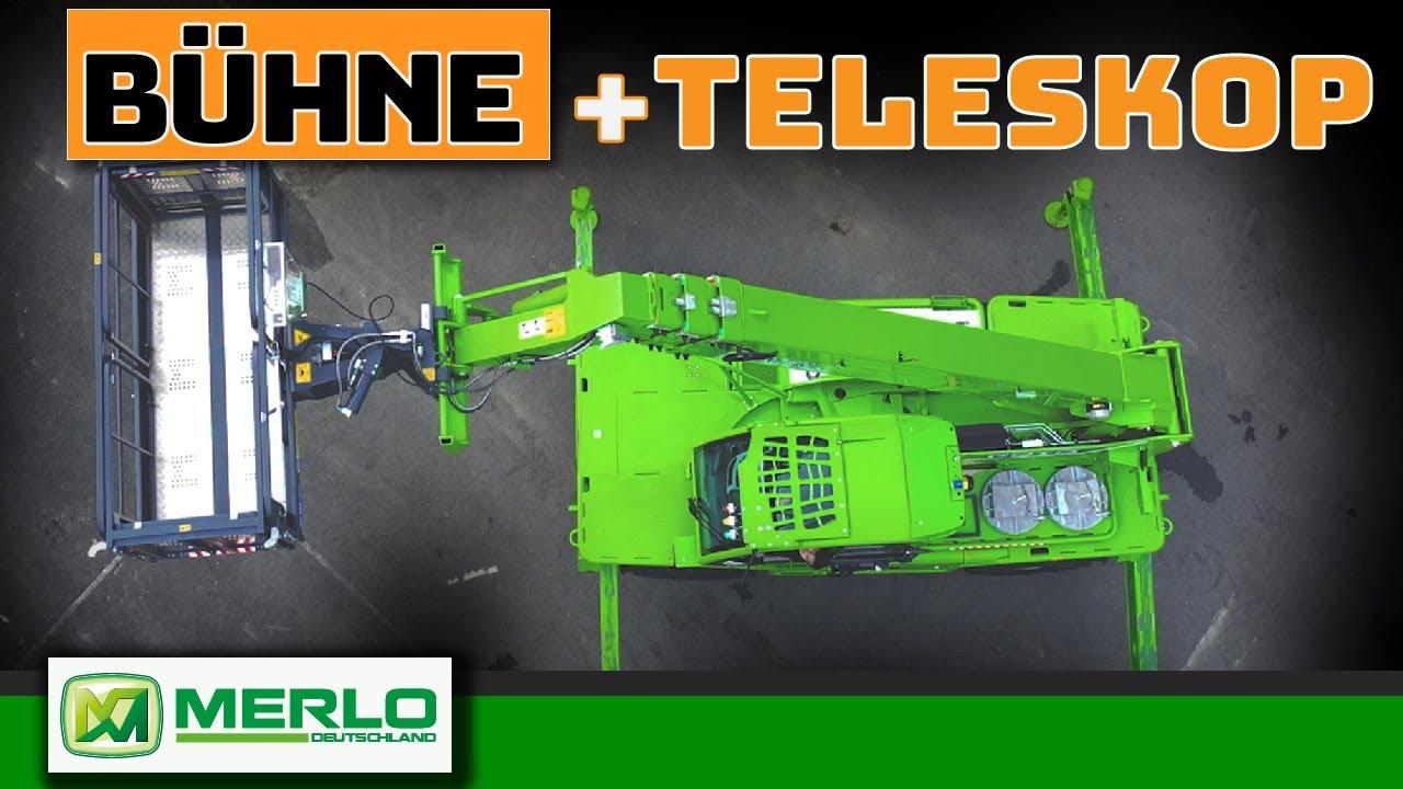 Vom Teleskoplader zur Arbeitsbühne (Merlo Anbau schnell & unfallfrei)