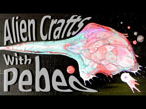 Pour Painting: Pebeo Fantasy Prisme paints, how to use artist tape and Alien crafts