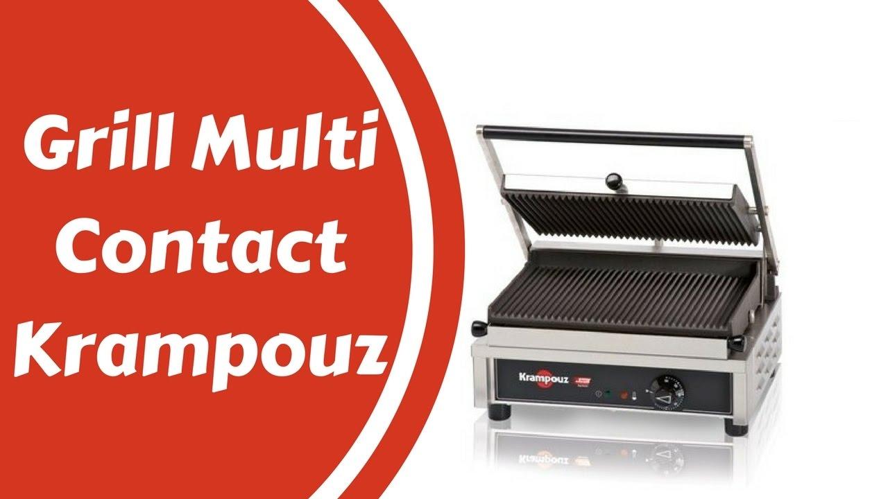 Multi contact grill large KRAMPOUZ Plaques rainurées