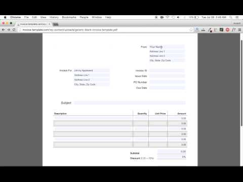 How To Make An Invoice Easy | Excel | Word | Pdf - Youtube