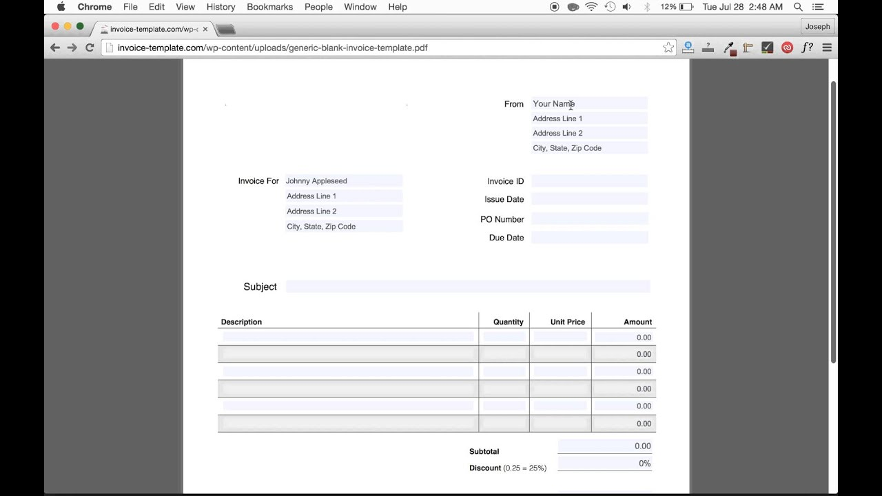 how to make an invoice template