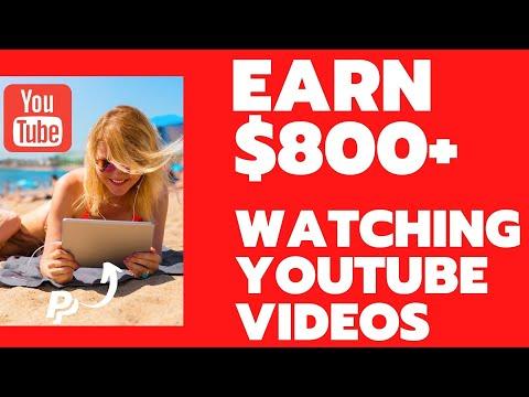 Earn $800 Watching YouTube Videos | Earn Free PayPal Money In 2021