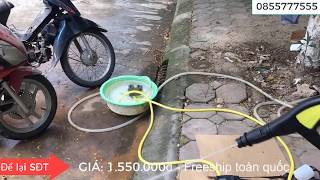 Test thử sức mạnh của máy rửa xe ZNC - siêu mạnh bung cả vỏ cây