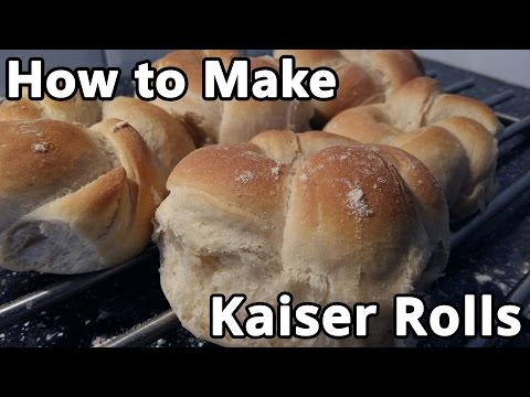 kaiser rolls Delicious rolls i made these today, the kneading process was a great outlet for lifes daily stresses :) prep and cook times are approximate.