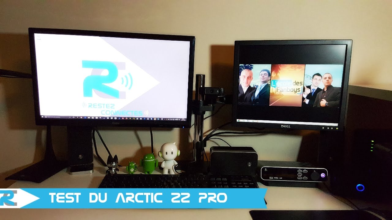Arctic z2 pro test support double cran pour for Ordinateur de bureau pour retouche photo