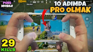 NASIL PRO OLUNUR ? | 29 KiLLS!! PRO OLMA TAKTİKLERİ!! | iPhone 8 Plus HANDCAM GAMEPLAY - PUBG Mobile