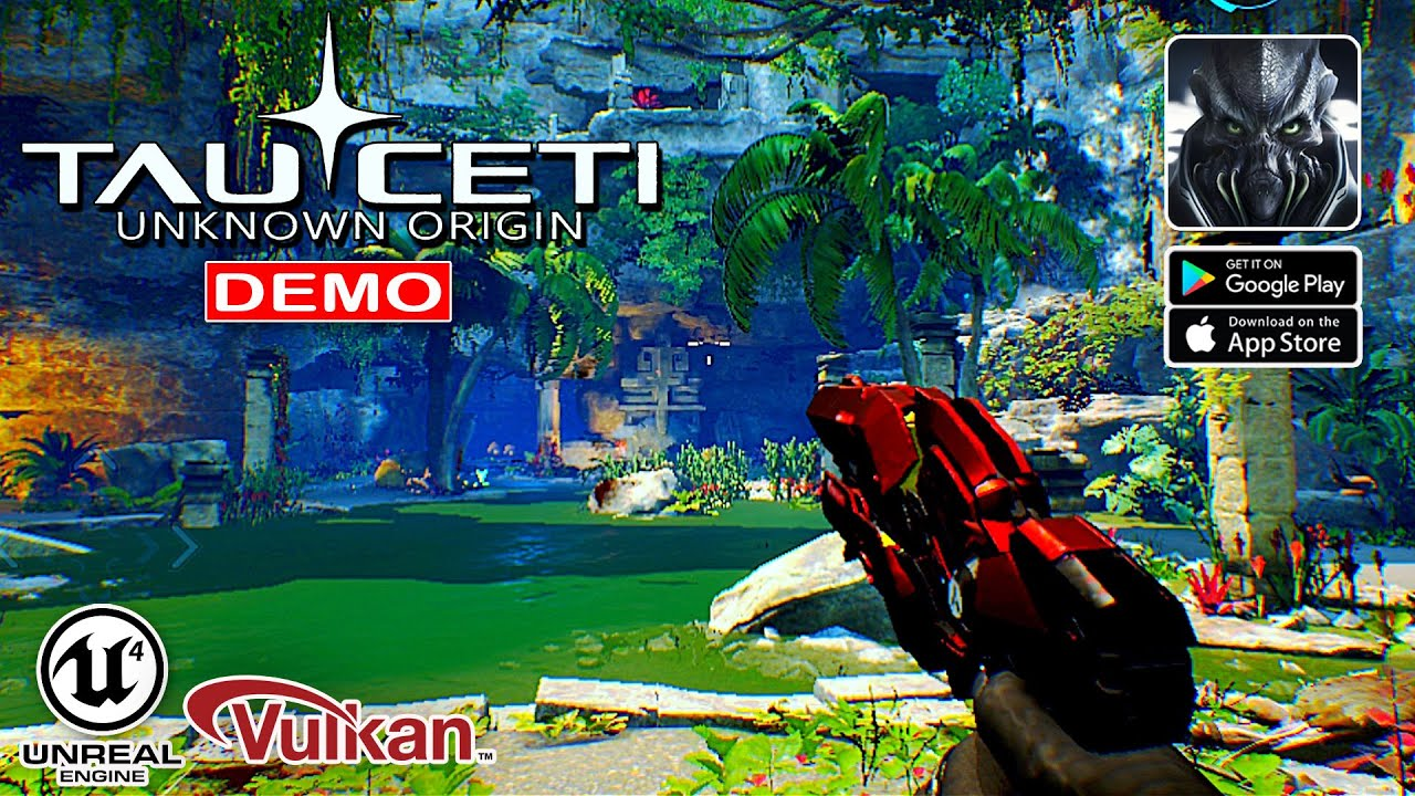 TauCeti Uknown Origin (Vulkan) - FPS Demo Gameplay (Android/IOS)