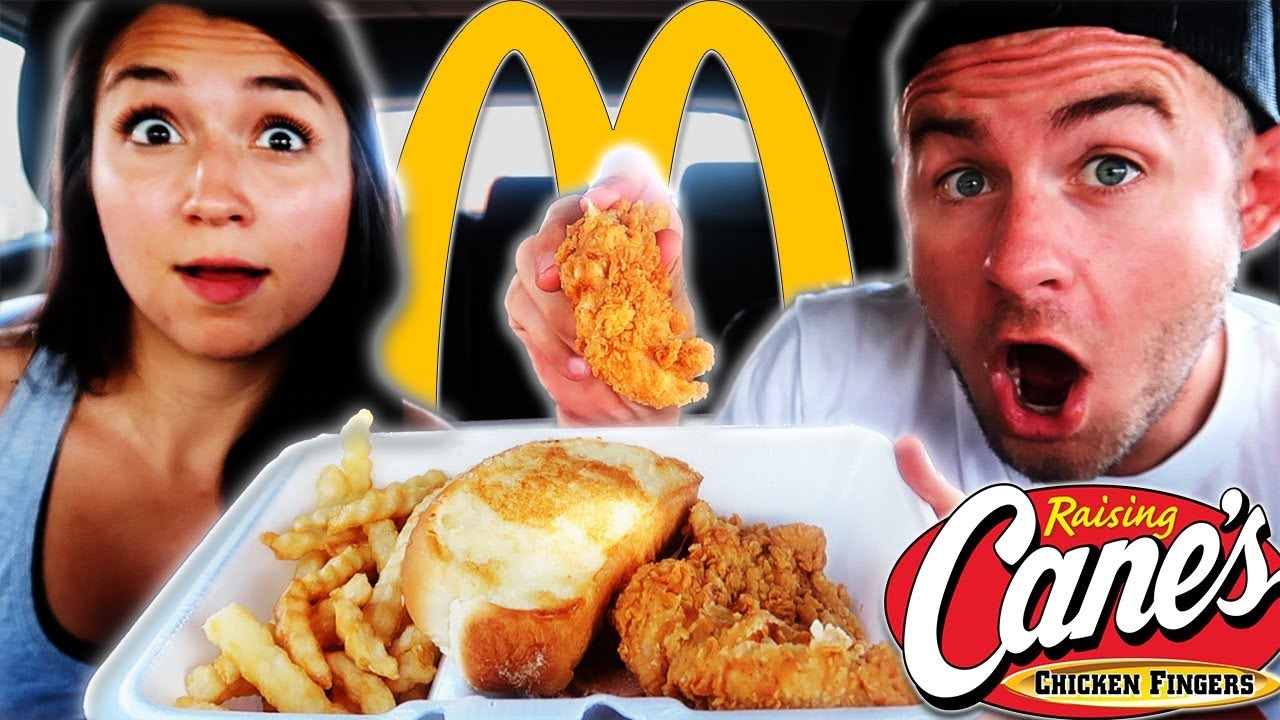 Raising Canes Vs Mcdonalds Mukbang How We Deal With Haters