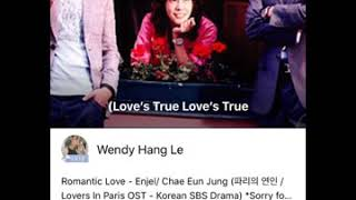Romantic Love - Enjel/ Chae Eun Jung - 파리의 연인/Lovers In Paris OST(Cover by Wendy Hang Le). Audio #51