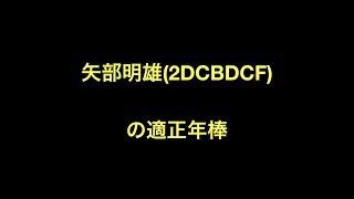 矢部明雄(2DCBDCF)の適正年棒