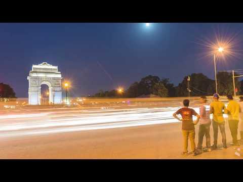 India Gate, New Delhi Timelapse 2017