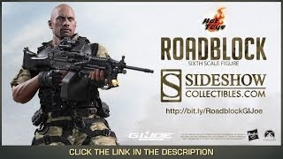 G.I. Joe Retaliation Hot Toys Roadblock Movie Masterpiece 1/6 Scale Collectible Figure Review