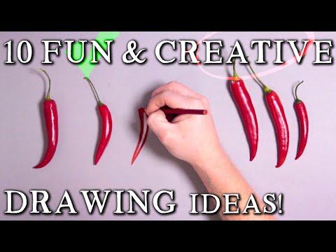 10 Fun & Creative Drawing Ideas! 3D Illusion Trick Art