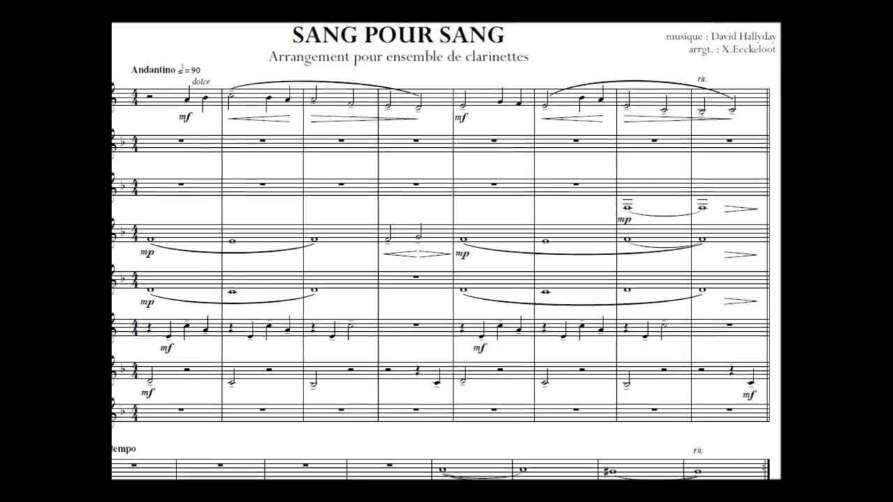 partition guitare sang pour sang