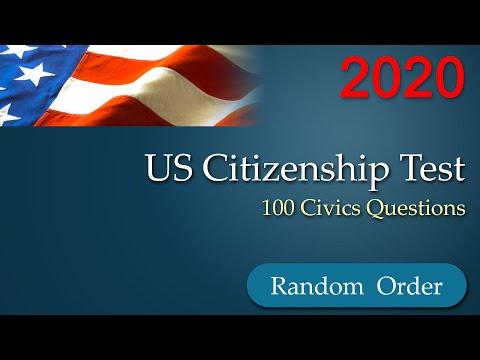 Random Order 100 Civics Questions for US Citizenship Test ...