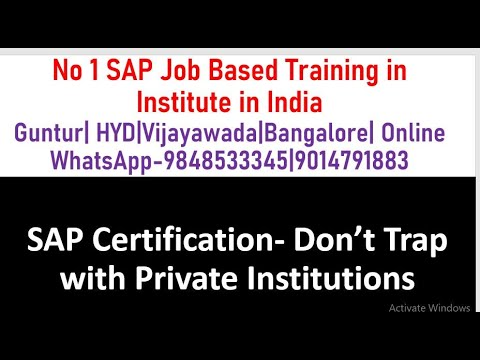 SAP Certification Don't Trap With Private Institutions SAP FICO Tutorial
